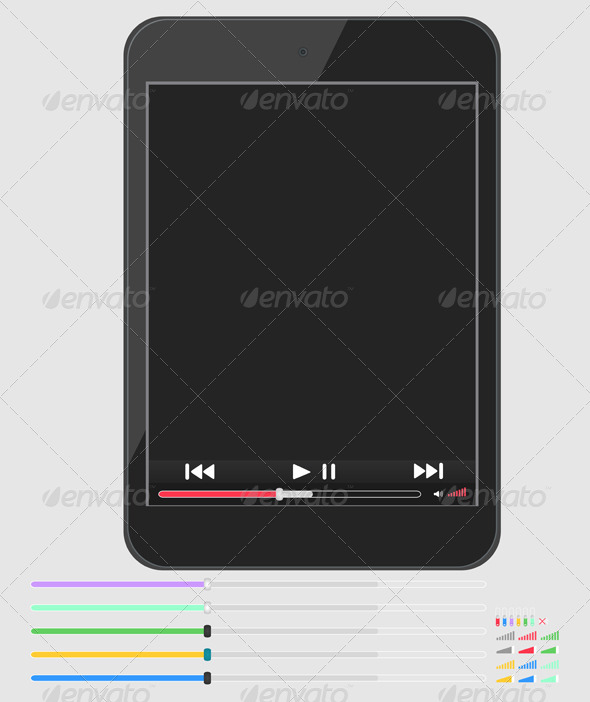 Layout Smartphone with Multimedia Player - Technology Conceptual