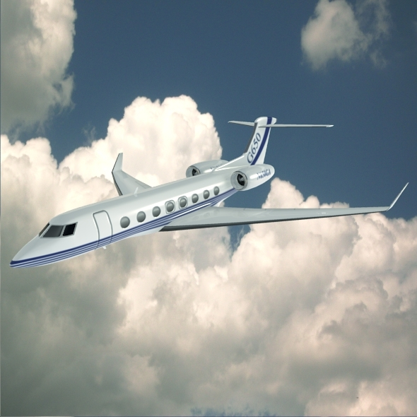 Gulfstream G650 N650 GA lowpoly business jet - 3DOcean Item for Sale