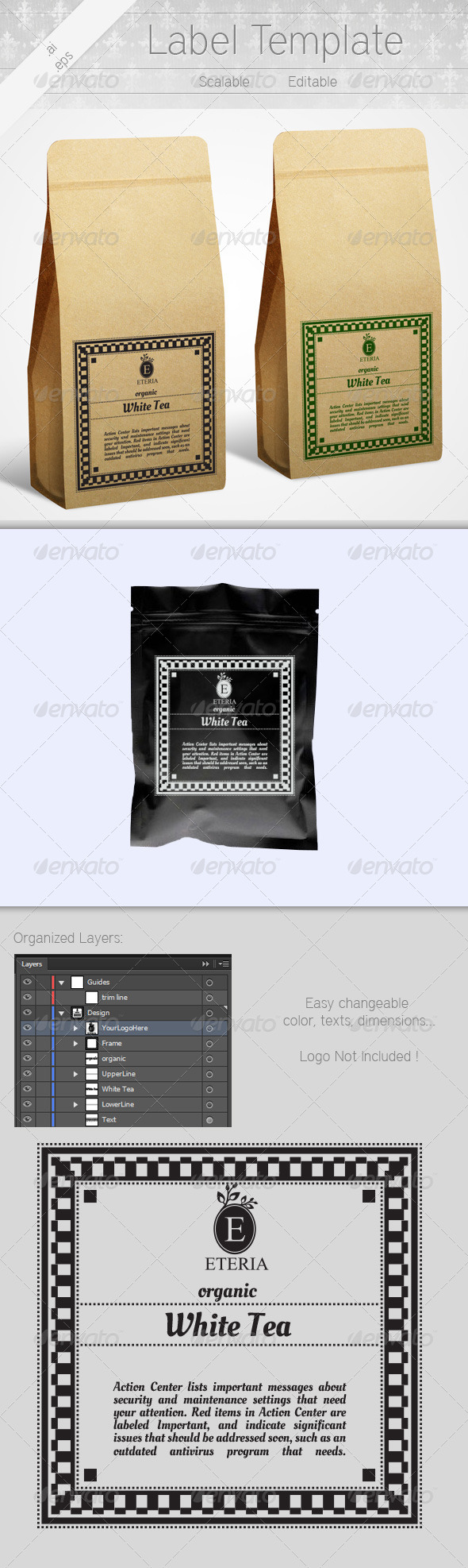 Label Template - Packaging Print Templates