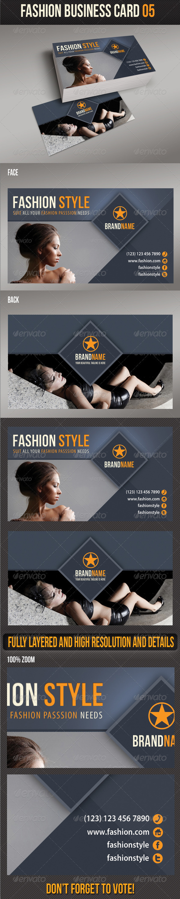Fashion Business Card 05 - Creative Business Cards