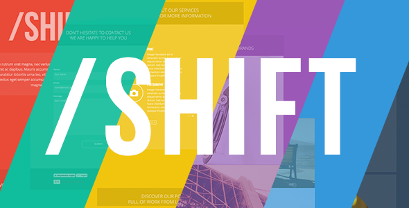 Shift – One Page Muse Template