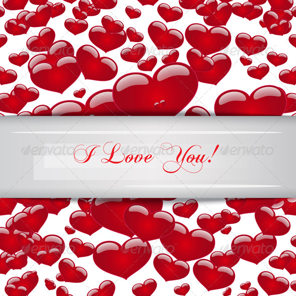 I Loved You Background with Hearts - Vectors
