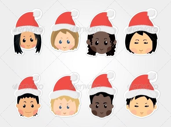 Christmas Funny Kids Icons - Icons