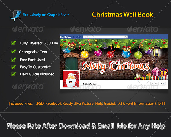 Christmas Wall Book - Facebook Timeline Covers Social Media