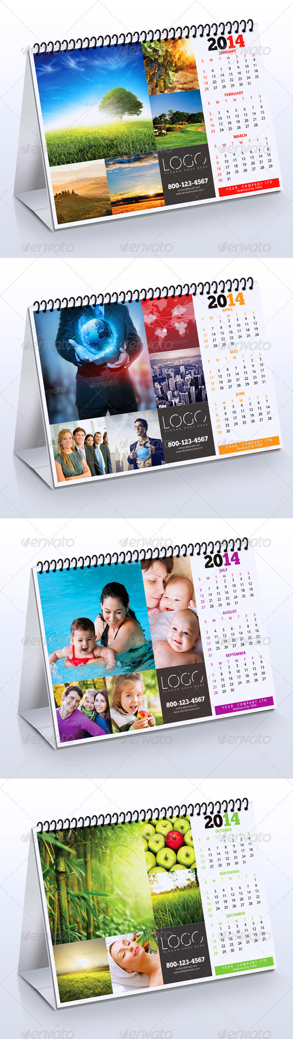 2014 Desk Calendar - Calendars Stationery