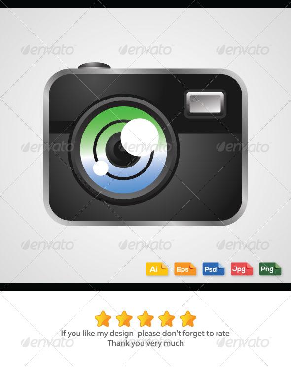 Digital Camera Vector - Media Technology