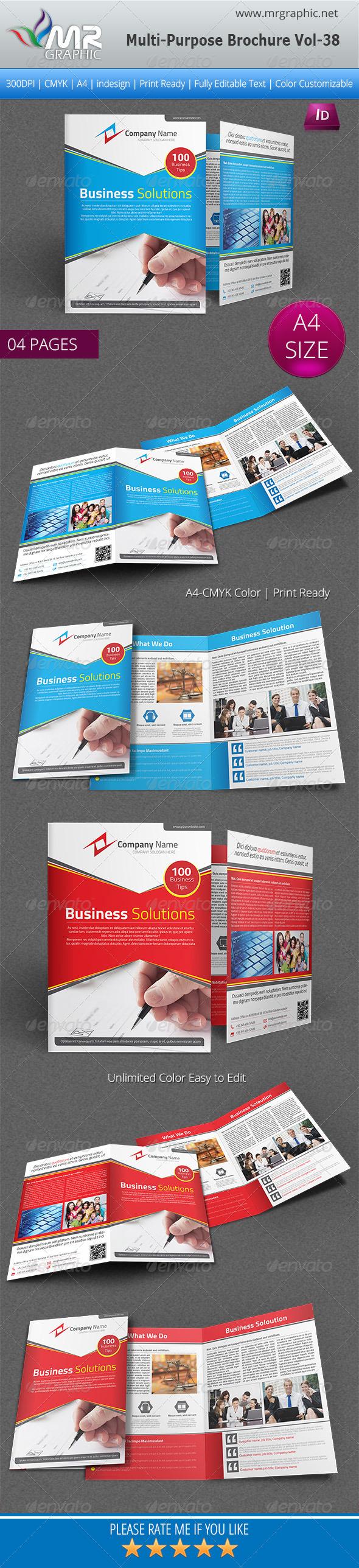 Multipurpose Bi-fold Brochure Template Vol-38 - Corporate Brochures