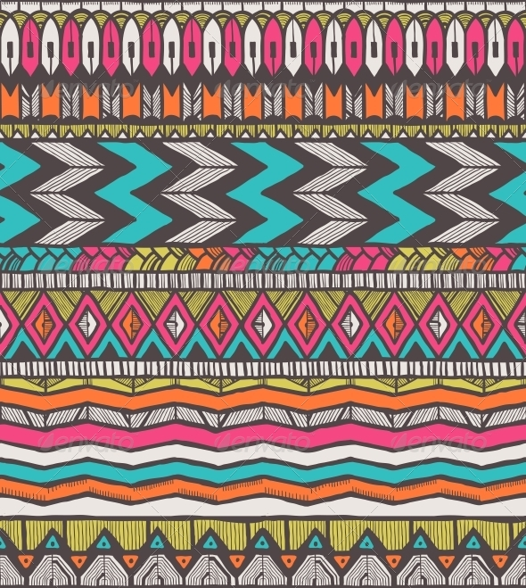 Tribal Vector Pattern - Patterns Decorative