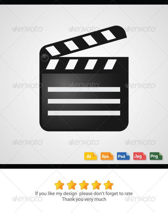 Movie Cut Board Vector - Media Technology