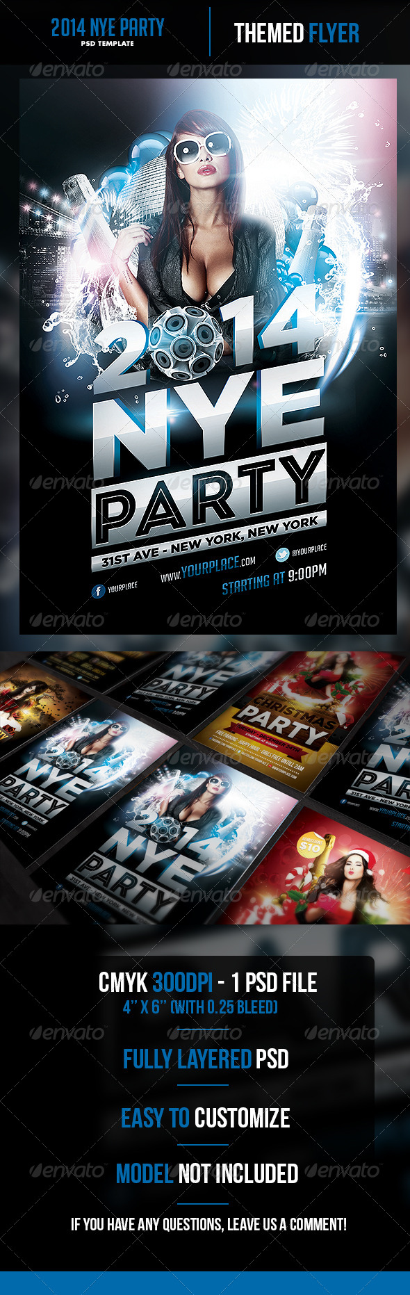 2014 New Years Eve Party Flyer Template - Holidays Events