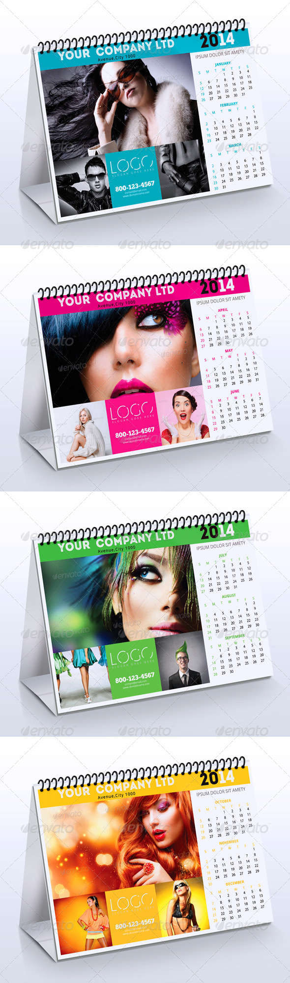 2014 Fashion Desk Calendar - Calendars Stationery
