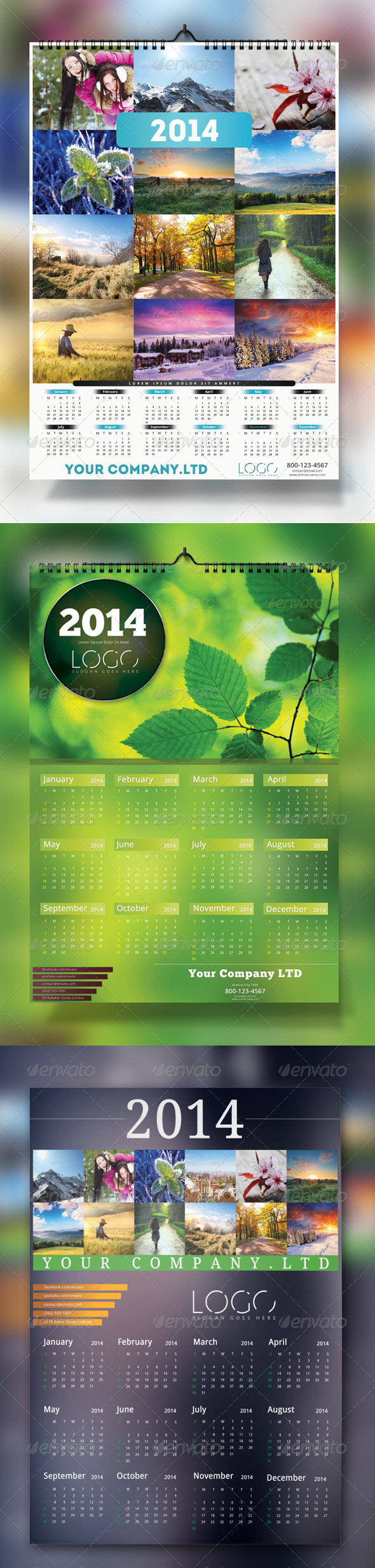 2014 Wall Calendar Bundle - Calendars Stationery