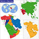 Western Asia Map - GraphicRiver Item for Sale