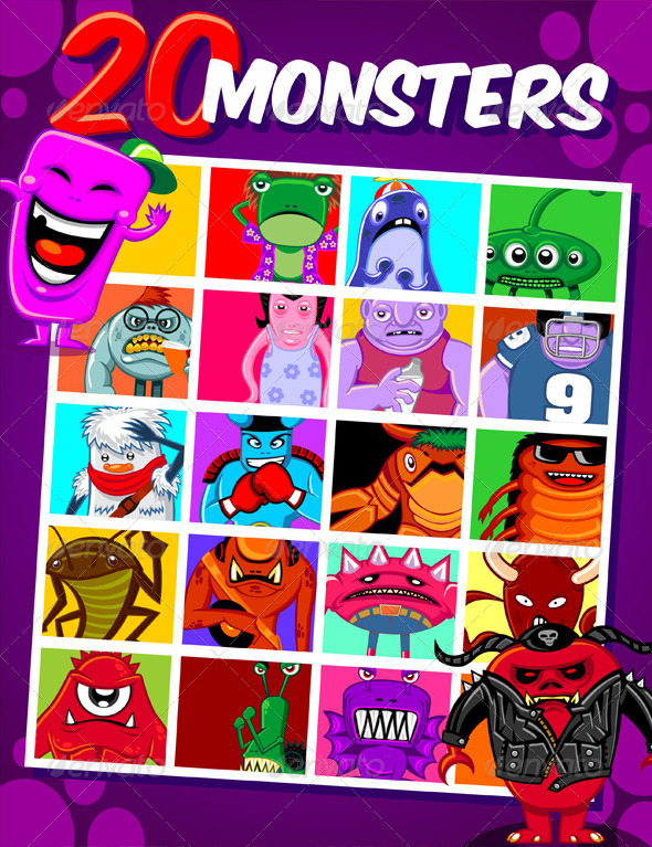 20 Monsters - Monsters Characters