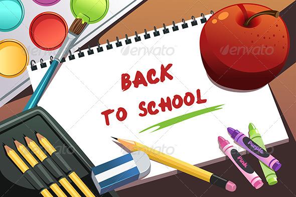 Back to School Background - Decorative Vectors