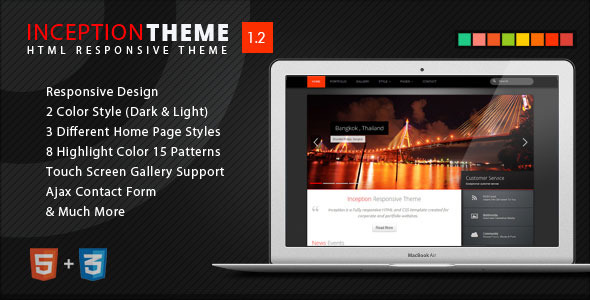 Inception Theme Responsive HTML