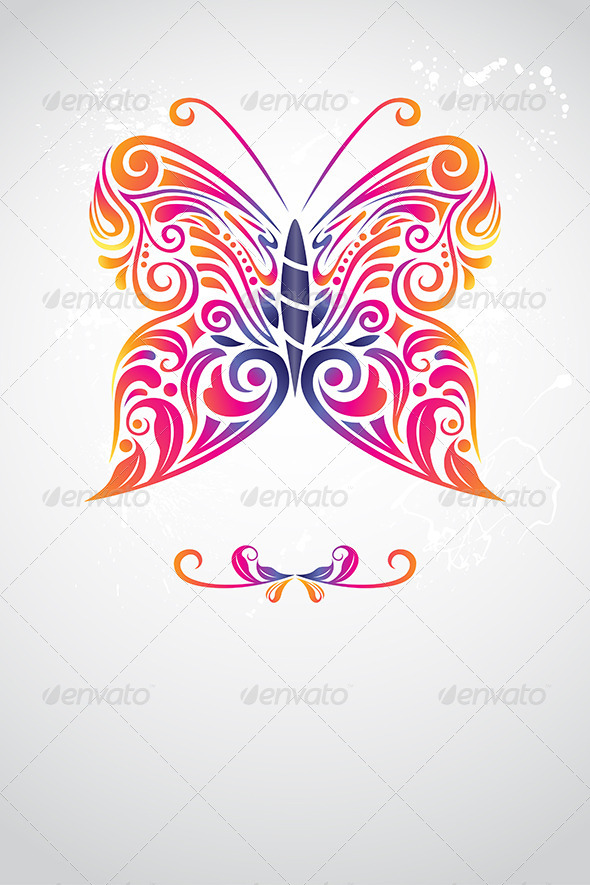 Abstract Butterfly - Decorative Vectors