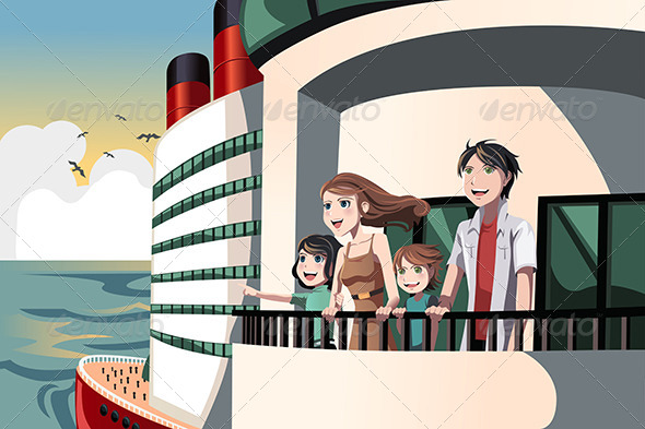 Family on a Cruise Trip - Travel Conceptual
