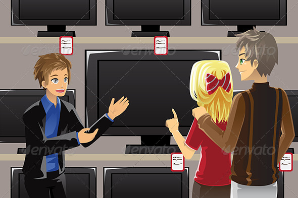 Buying Television - Commercial / Shopping Conceptual