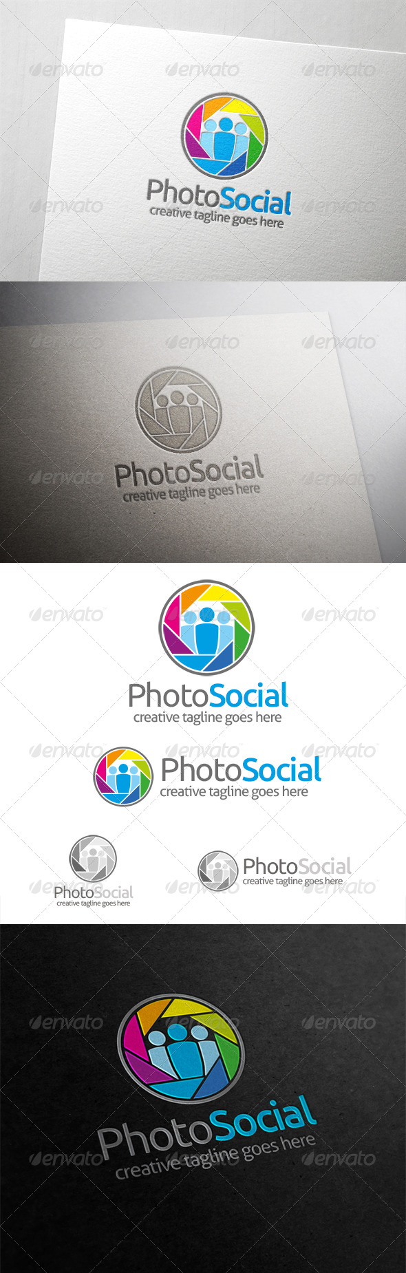 Photo Social Logo - Humans Logo Templates