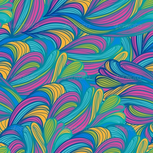 Seamless Abstract Pattern Waves Background - Patterns Decorative