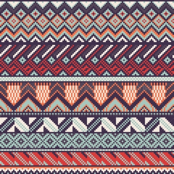 Ethnic Seamless Background - Patterns Decorative
