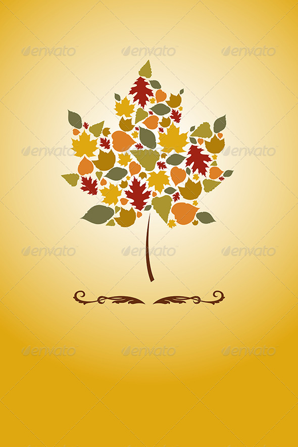 Autumn Leaves - Decorative Vectors