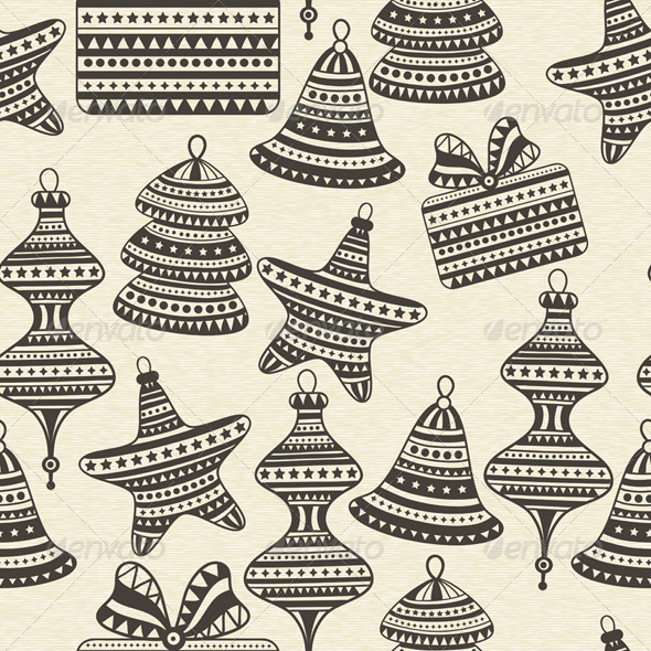 Vector Seamless Winter Pattern - Patterns Decorative