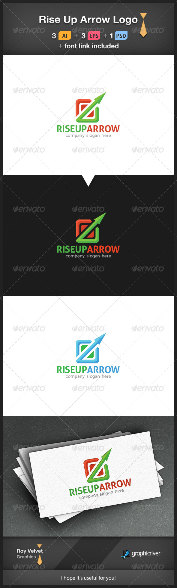 Rise Up Arrow Logo - Symbols Logo Templates