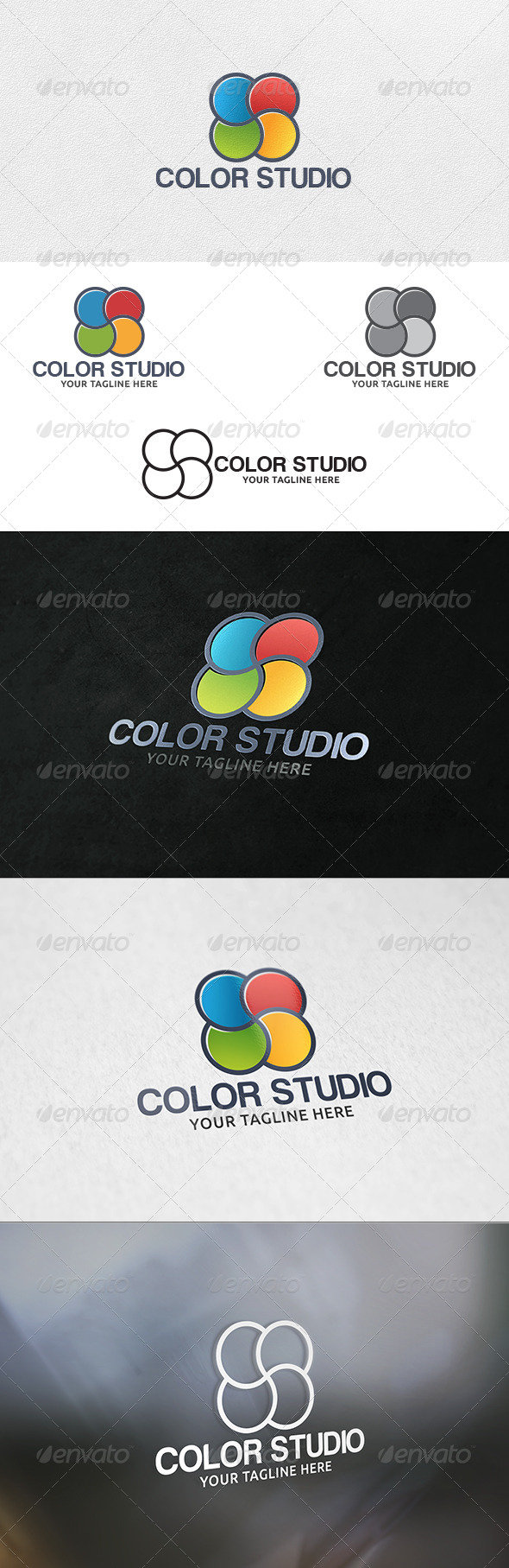 Color Studio - Logo Template - Vector Abstract