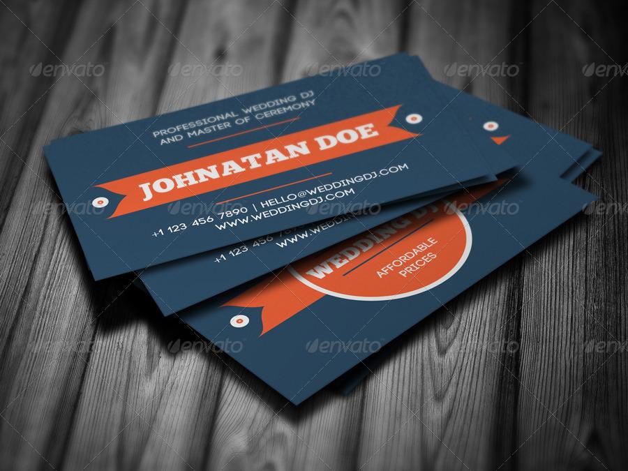 wedding dj business card by vinyljunkie graphicriver