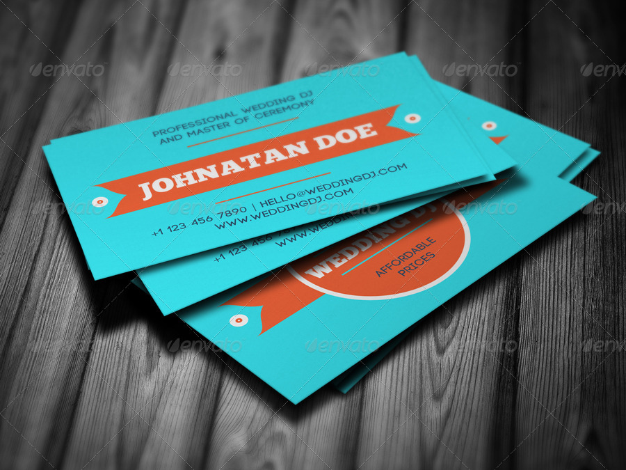 Wedding DJ Business Card by vinyljunkie | GraphicRiver