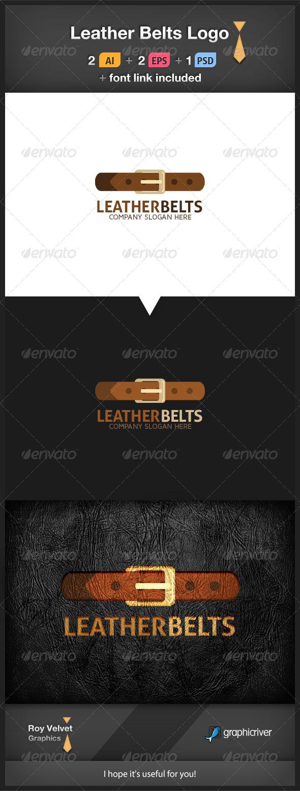Leather Belts Logo - Symbols Logo Templates