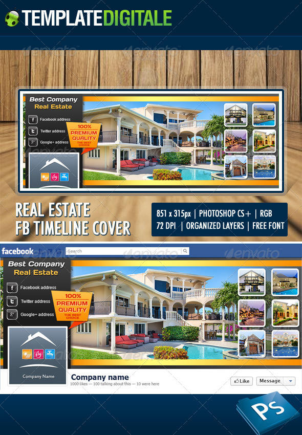 Real Estate Facebook Timeline - Facebook Timeline Covers Social Media