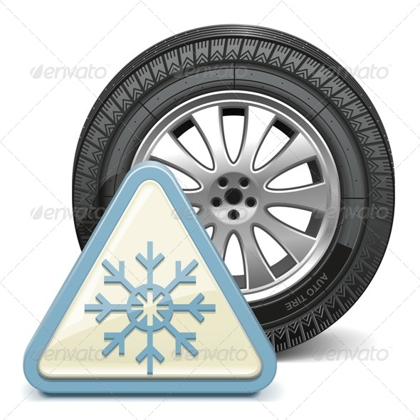 Vector Wheel with Snowflake Sign - Industries Business