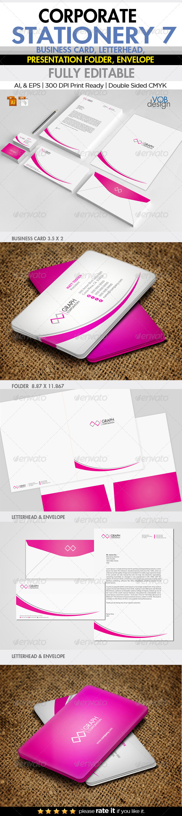 Corporate Stationery 7 - Stationery Print Templates