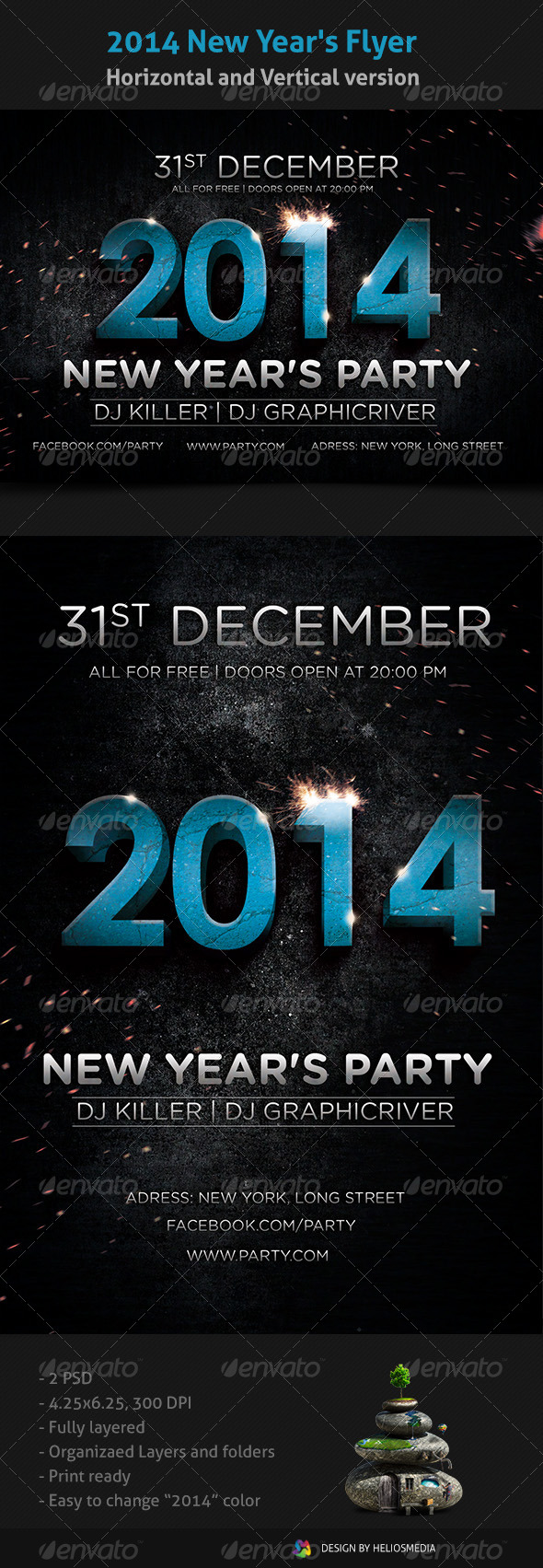 2014 New Year's Flyer  - Clubs & Parties Events