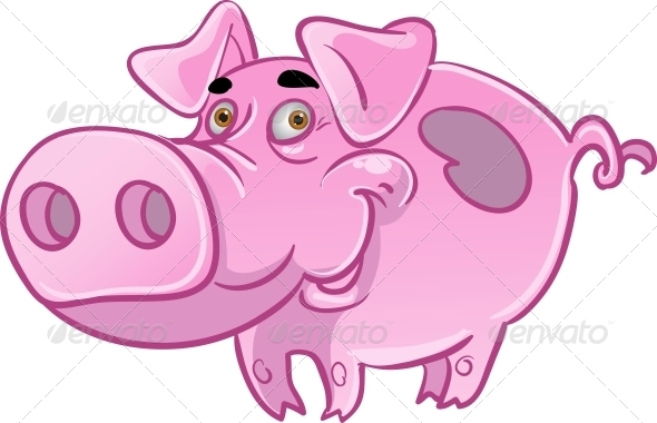 Pink Pig - Animals Characters
