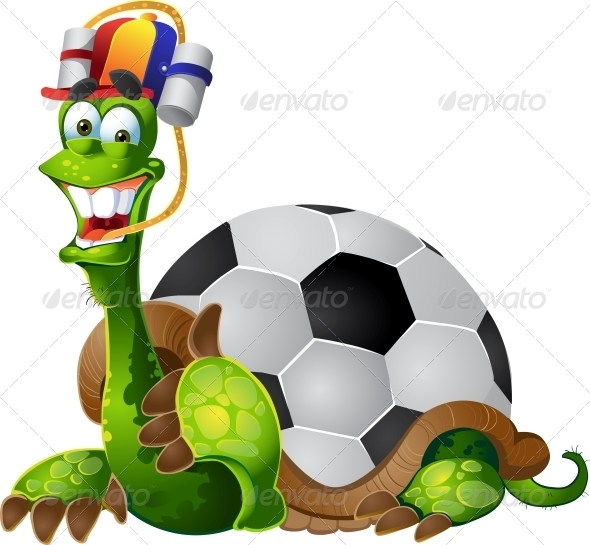 Turtle Football Fan - Animals Characters