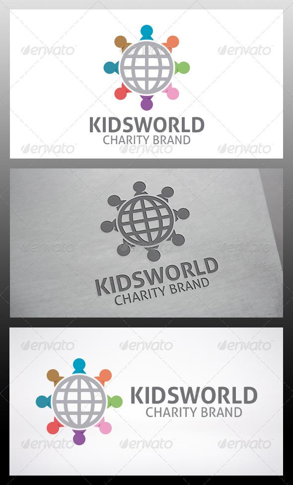Kids World Logo - Humans Logo Templates