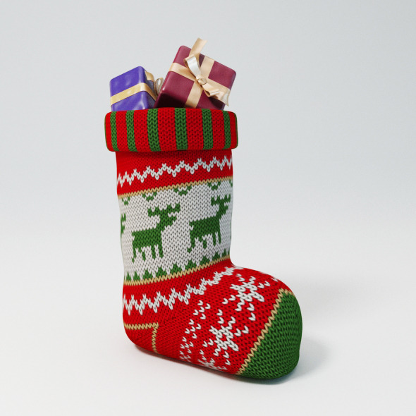 Christmas Stockings - 3DOcean Item for Sale