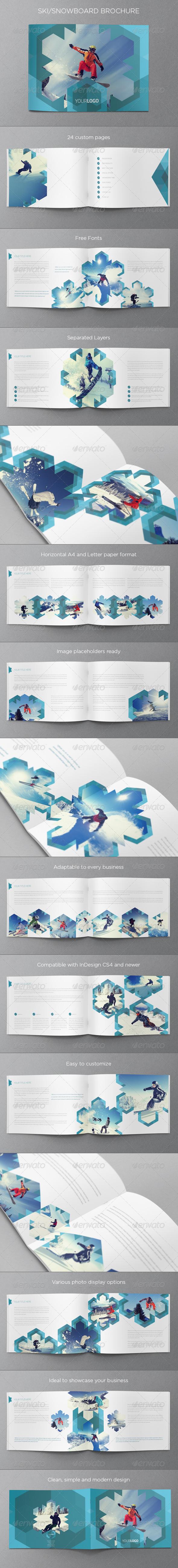 Ski & Snowboard Winter Brochure - Brochures Print Templates