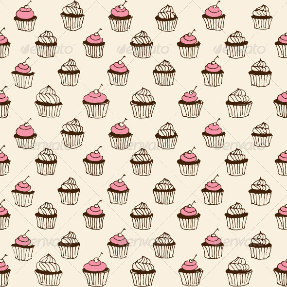 Cupcake Seamless - Patterns Decorative