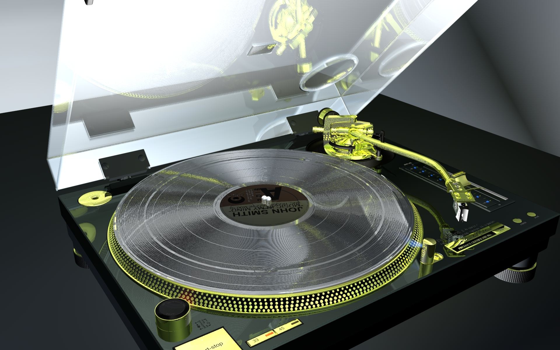 Realistic Turntable Technics Sl1200gld By Humangraphics