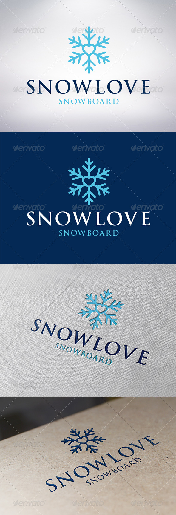 Snow Love Logo Template - Symbols Logo Templates