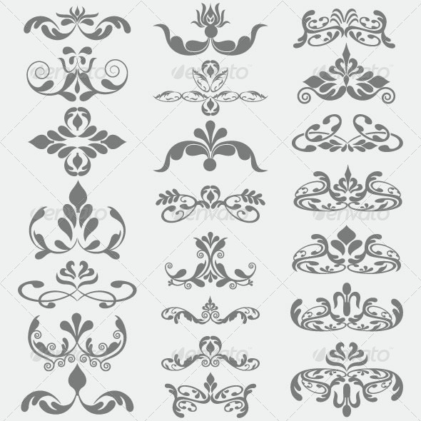 Vintage Design Elements 90 - Decorative Vectors