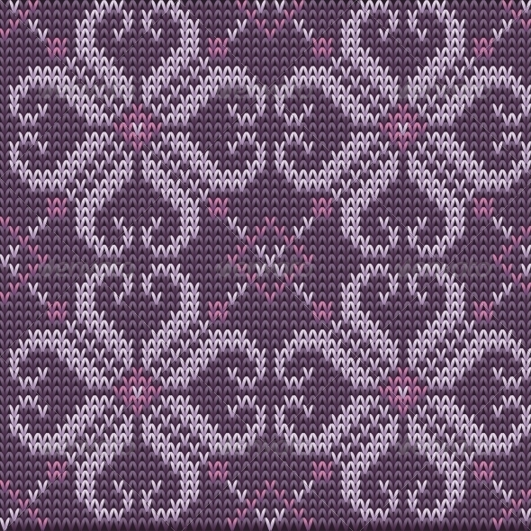 Color Knitted Wool Pattern Background - Backgrounds Decorative