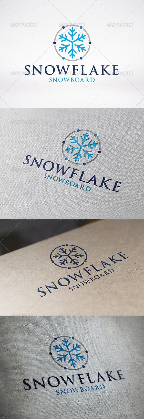 Snowflake Logo Template - Symbols Logo Templates