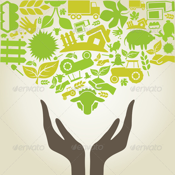 Hand Agriculture - People Characters