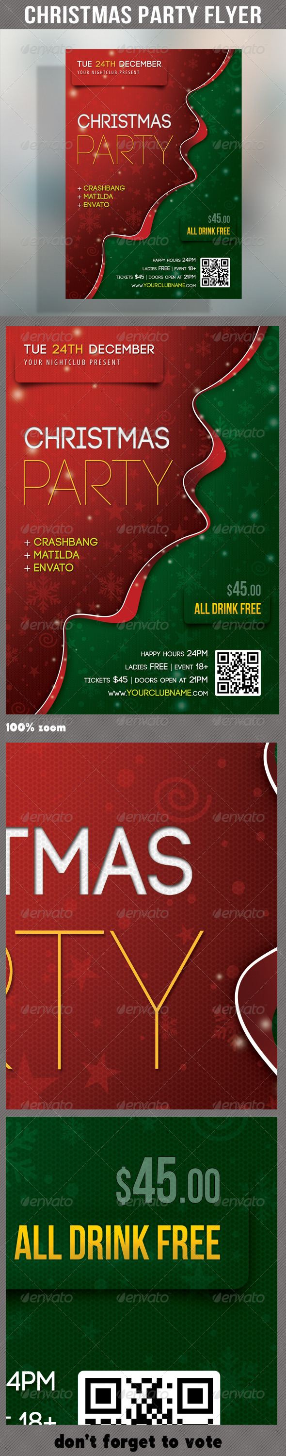 Merry Christmas Party Flyer 01 - Holidays Events